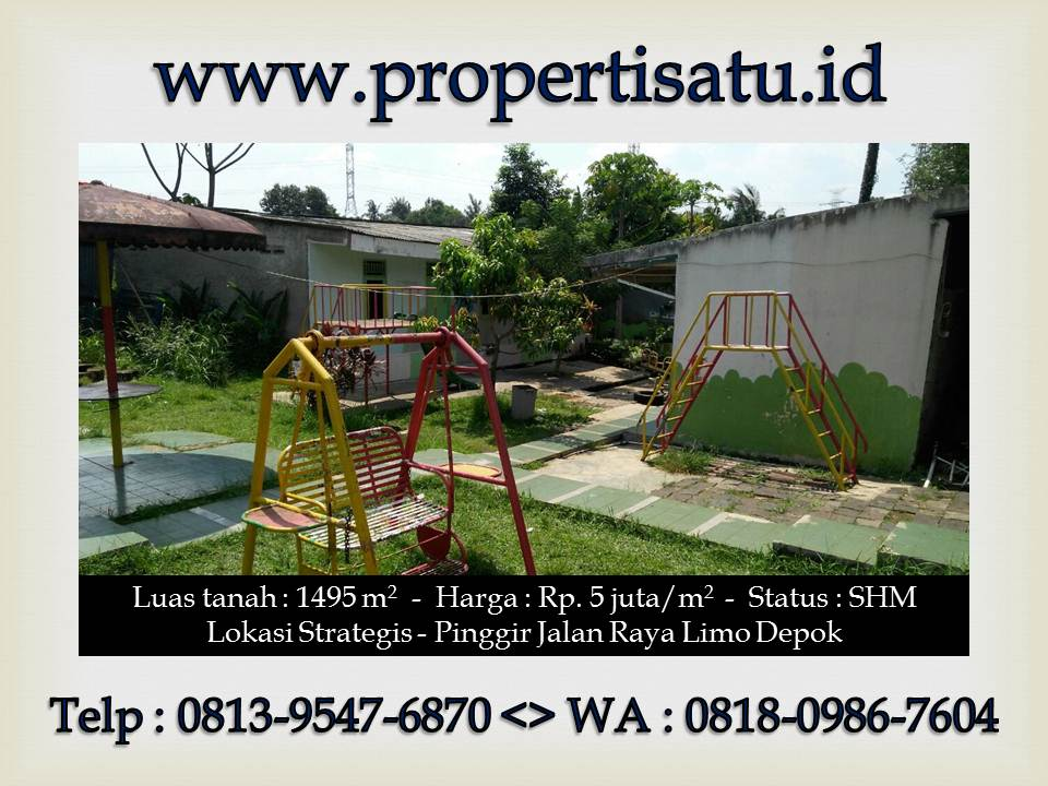 Tanah Dijual Depok 2 Hubungi Telp 081395476870 Atau Wa